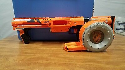 NERF N-Strike Raider CS-35 Orange Gear Up W/ Matching  barrel clip.