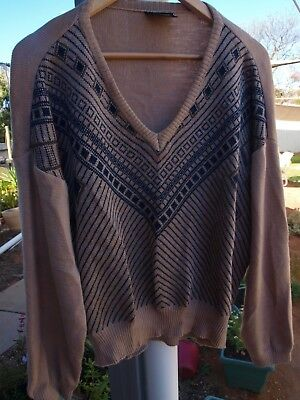 Unique Men's Pure Wool Vintage Jumper. New No Tags. Sz : 22. Made In Australia.