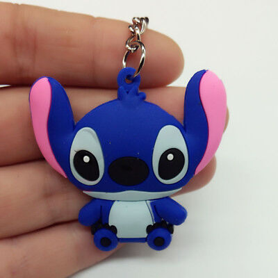 New  Stitch Soft Rubber Keyring Keychain Double Sides