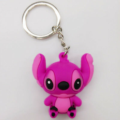 New 3D Stitch Soft Rubber Keyring Keychain Double Sides