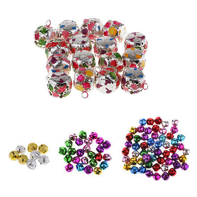 Colorful Christmas Craft Bells Loose Beads Pendants Charms Party Ornament