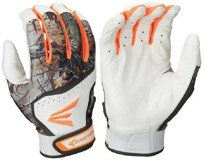 1 Pair Easton HS7 Real Tree Adult Medium Batting Gloves White / RealTree A121772