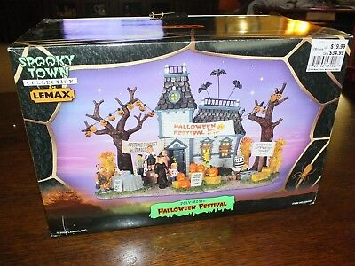 Spooky Town Halloween Festival Haunted House 2004 (retired) New WoW!