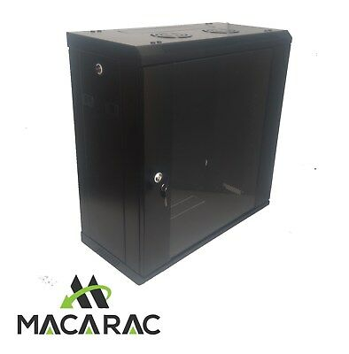 """12U 300mm Deep 19"""" Rack System Wall Mount Network Cabinet (Provision for 2 Fans)"""