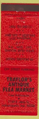 Matchbook Cover - Traylor's Antique Flea Market Indianapolis IN