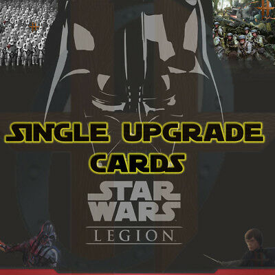 Star Wars Legion - Single Upgrade Cards - Gear, Force, Command, Elite, Comms etc