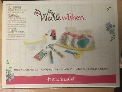 American Girl AG Make it Great Play Set Wellie Wishers Doll Sized