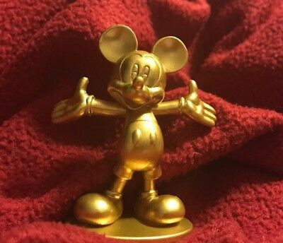 Disney Mickey The True Original 90 Years Of Magic Gold Golden  Figure