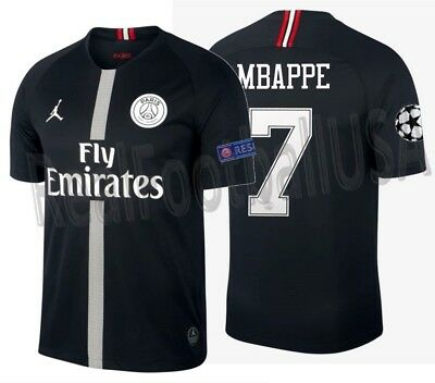 3e36687da Jordan K. Mbappe Psg Paris Saint-Germain Champions League Home Jersey 2018  19
