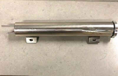 """Universal 2""""x 13"""" Polished Stainless Radiator Overflow Tank Bottle Catch Can"""