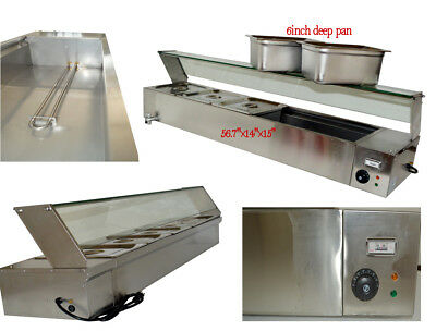 6''Deep Pan 5-Pan Countertop Steam Table Bain Marie Food Warmer 110V1500W US New