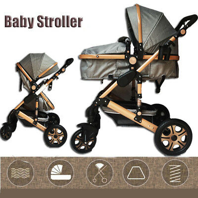 New Multifunction Baby Stroller With Bassinet High View Pram Foldable Pushchair