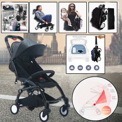 Black Lightweight Baby Stroller Pram Easy Fold Yoyo Travel Carry on Plane 2018