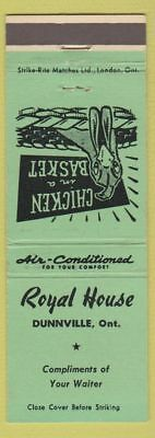 Matchbook Cover - Royal House Dunnville ON