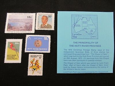 Hutt River Province Collection of 5 MUH with notes Low Start L@@K