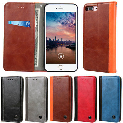 Retro Wallet Leather Flip Case Cover For iPhone XS Max XR 5S SE 6 6S 7 8 Plus X