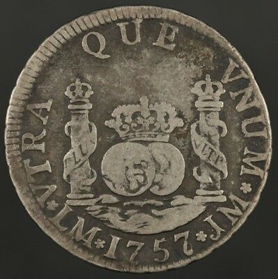 1757 Lima Peru 2 Reales world coin
