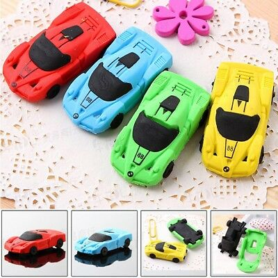 Kids Race Car Rubber Pencil Eraser Stationery Cleansing Student Toys Erase Gift
