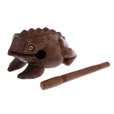 Wood Frog Guiro Rasp Musical Percussion Toy for Children Students Large