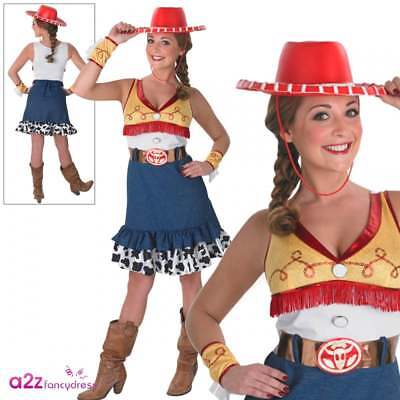 Ladies Jessie Costume + Hat Official Disney Toy Story Cowgirl Adult Fancy Dress