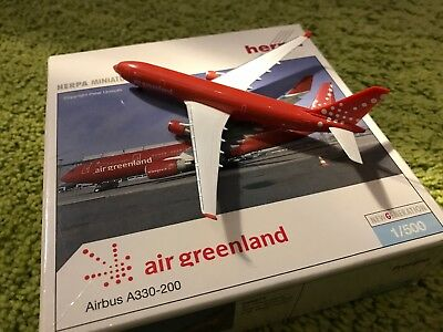 SALE Herpa Wings 1:500 Airbus A330-200 Air Greenland OY-GRN Limited Edition