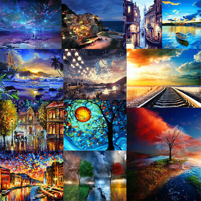 40*50cm DIY Paint By Number Kit Digital Oil Painting Art Wall Home Decor Secnery