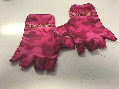Sun Gloves Upf 50 Camo Pink Colour Size Large Fishing Walking Cycling Kayak