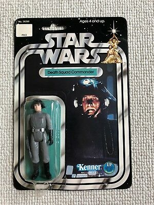 Vintage Star Wars Death Squad Commander 12 Back B  Afa Ukg Moc Clear Bubble