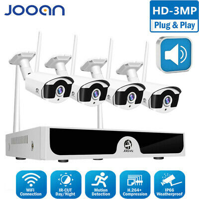 JOOAN 4CH 1080P NVR Security System 2MP WIFI IP HD Video CCTV Outdoor Camera Kit