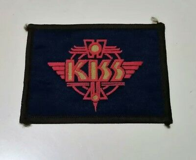 Vintage KISS Patch #2 heavy metal rock and roll jacket badge 1980s music band