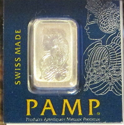 1 gram PAMP Suisse Platinum Bar .9995 Fine (In Assay)