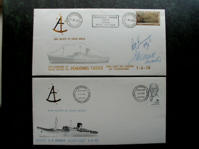 ship society of sth africa 2 covers one signed