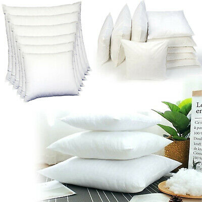 Luxury Hotel Quality Hollow Fibre Square Cushion Pads Soft Bounce Inner Fillers