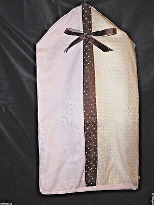 Lambs & Ivy Madison Avenue Pink & Brown Diaper Stacker Pink, Brown, Cream Euc