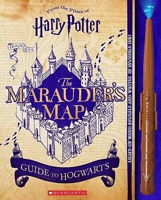 Harry Potter Marauders Map Guide to Hogwarts Hardcover Novelty Christmas Gift