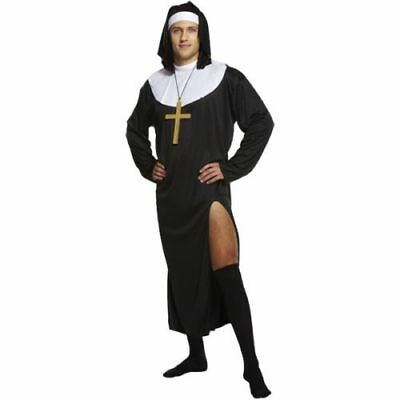 Men Naughty Nun Fancy Dress Costume Sister Adult Male Stag Do Party