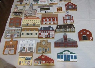 Lot of 25 Cat's Meow Houses. Amish, Barns, Firehouses, EUC
