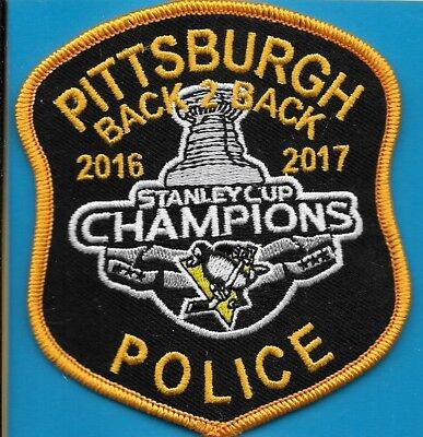 Pittsburgh Penn Pa Police Stanley Cup Champs 2017 Ppd (Fire) Hockey Back 2 Back