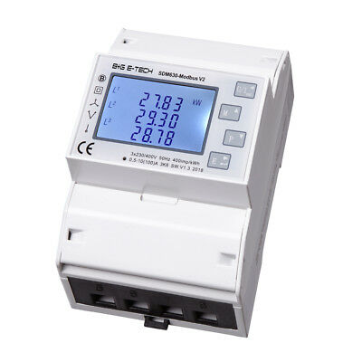 B+G EASTRON  Dreh- Stromzähler SDM630 Modbus LCD Multifunktions S0 RS485 10/100A