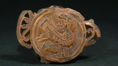 Ancient Christian Religious Icon Christ / Saint Image Shell Byzantine 600-900 Ad