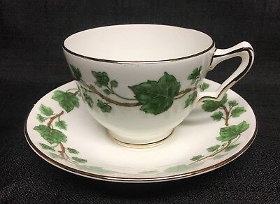 Crown Staffordshire Green Ivy Cup & Saucer
