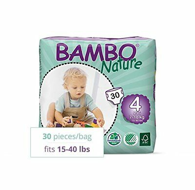 Bambo Nature Diapers Size 4 30 pk x2 -new