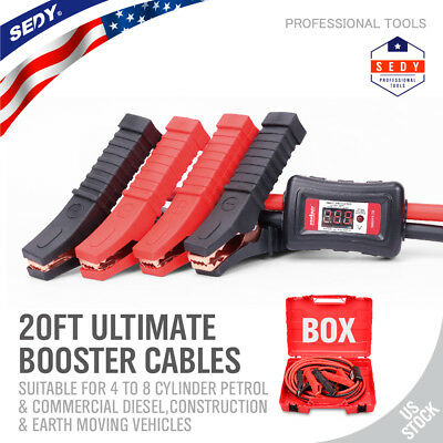 20 FT 1 Gauge Booster Cable Jumping Cable Comercial Heavy Duty protector display
