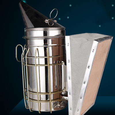 Stainless Steel Smoker Hive Smoker Large Beekeeping Tool [UK]