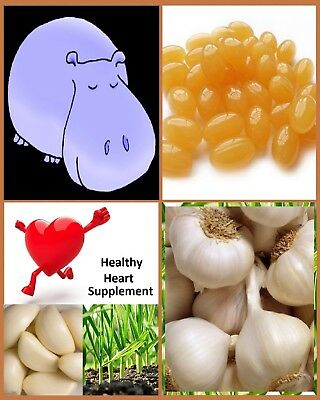 Odourless Garlic 10mg - 1000mg Equivalent Softgel Capsules - Pure Heart Health.