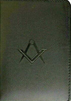 California Masonic Cipher Ritual Book Cover in Faux Leather with S&C