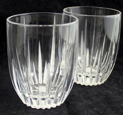 Lenox Crystal STARLIGHT 2 Double Old Fashioneds No Trim GREAT CONDITION