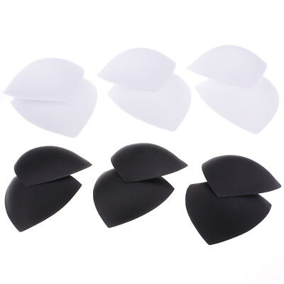 6 Pairs Reusable Triangle Bra Insert Breathable Pads Swimsuit Replacements