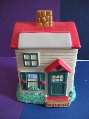 Ceramic House Shaped Jar - New