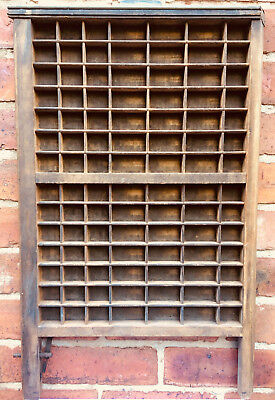 Vintage wooden Letterpress printers tray Original condition Typeset Drawer